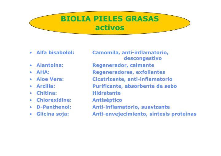 BIOLIA PIELES GRASAS activos