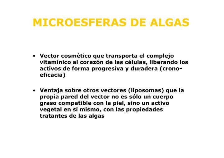MICROESFERAS DE ALGAS