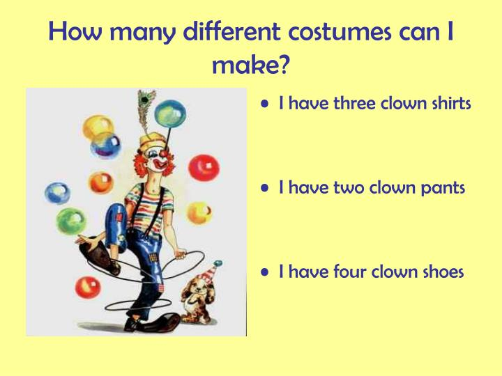 How many different costumes can i make