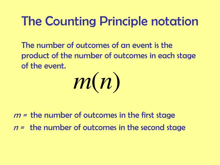 The Counting Principle notation
