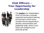 club officers your opportunity for leadership1