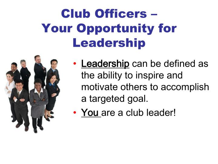 Club Officers –