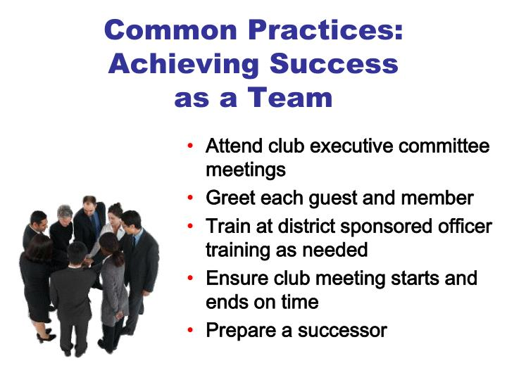 Common Practices: