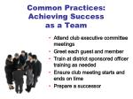 common practices achieving success as a team