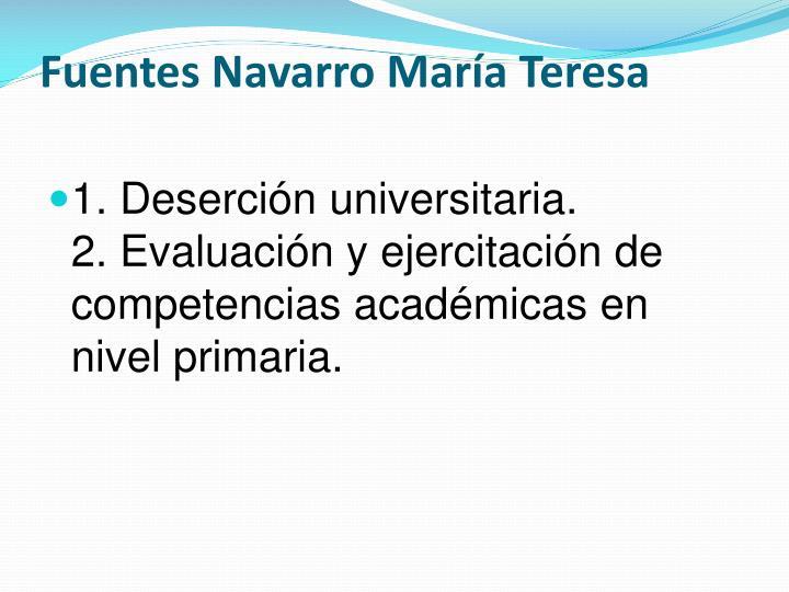 Fuentes Navarro María Teresa