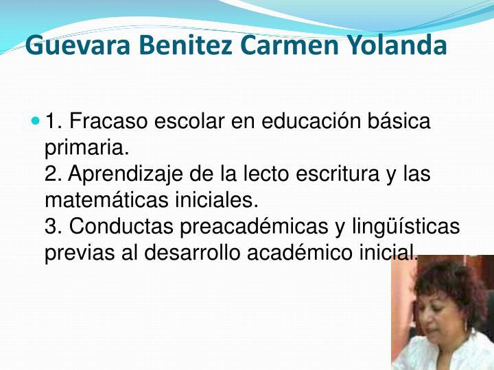 Guevara Benitez Carmen Yolanda