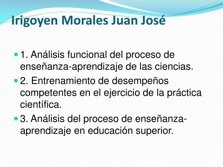 Irigoyen Morales Juan José