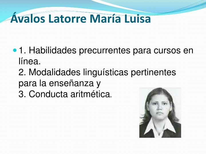 Ávalos Latorre María Luisa