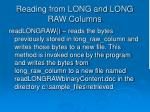 reading from long and long raw columns3