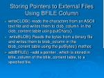storing pointers to external files using bfile column4