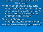 using streams to read from clob and blob columns4