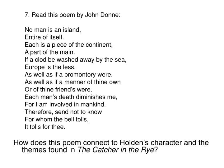 7. Read this poem by John Donne: