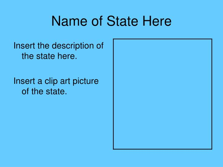 Name of State Here