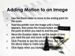 adding motion to an image2