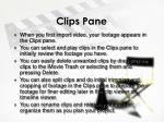 clips pane