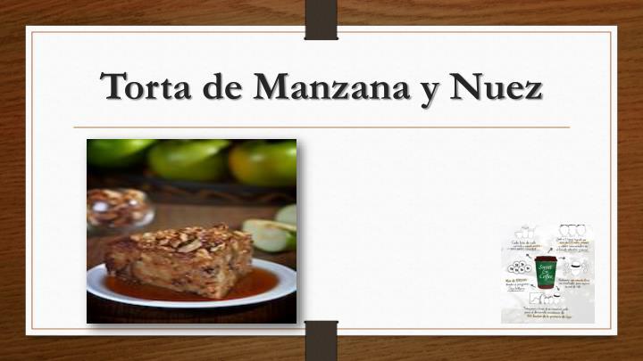 Torta de Manzana y Nuez