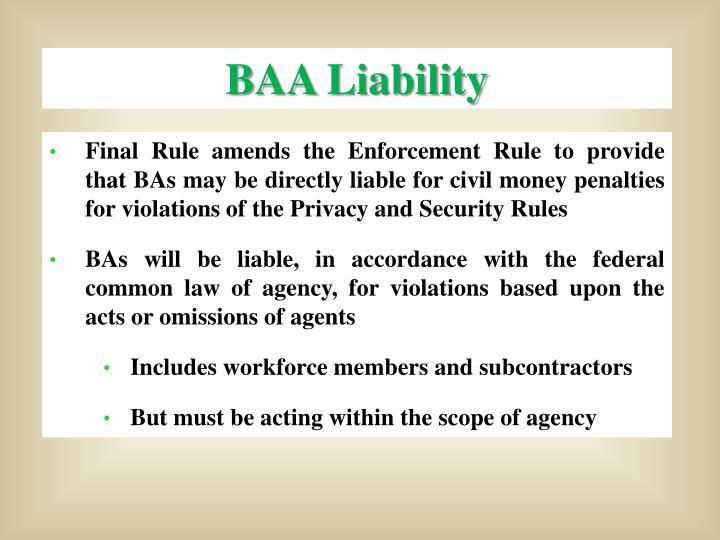BAA Liability