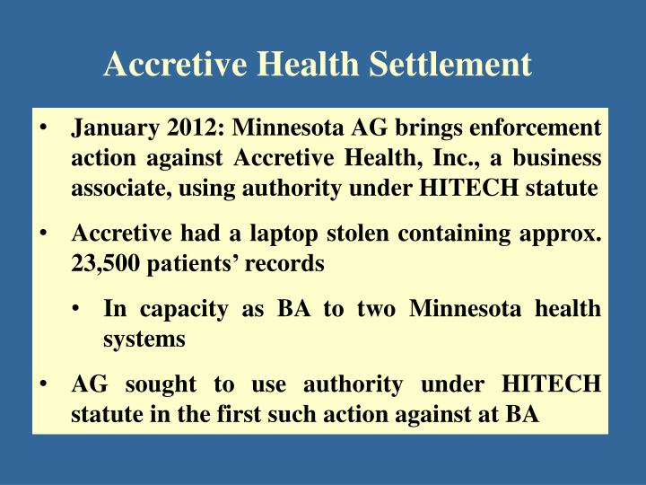 Accretive Health Settlement