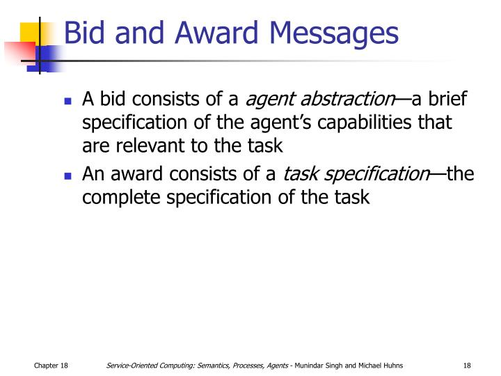 Bid and Award Messages