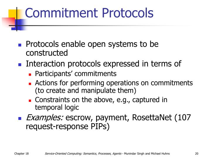 Commitment Protocols