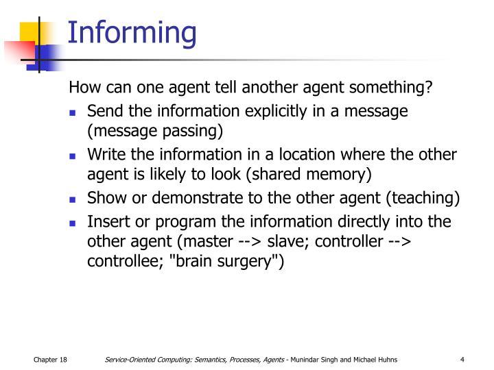 Informing