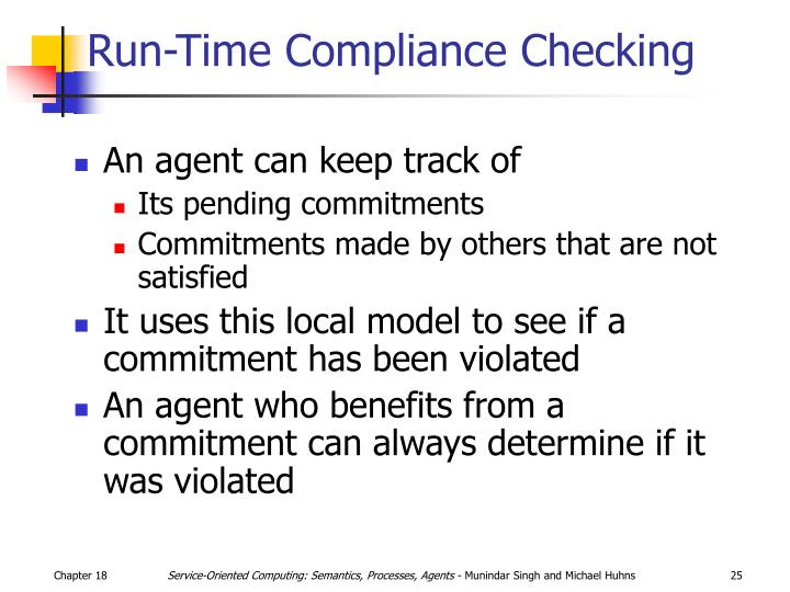 Run-Time Compliance Checking