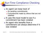 run time compliance checking