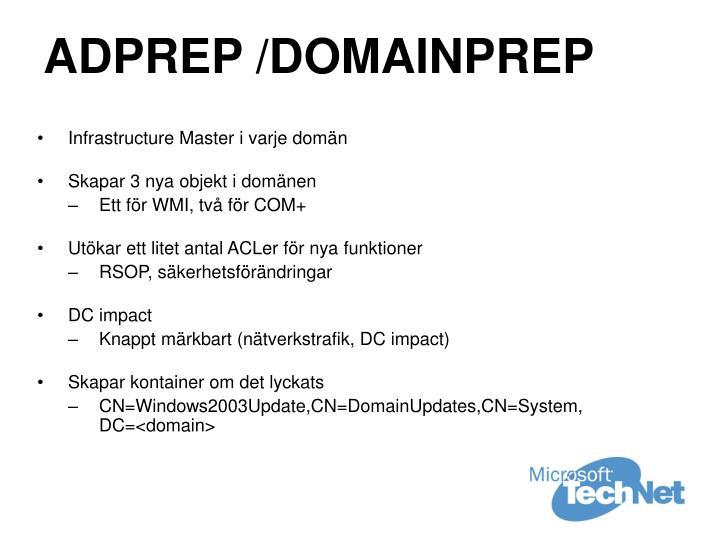 ADPREP /DOMAINPREP