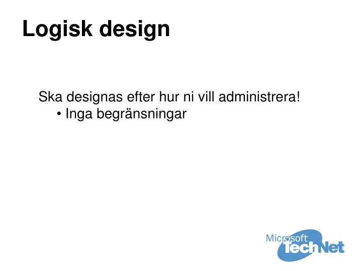 Logisk design