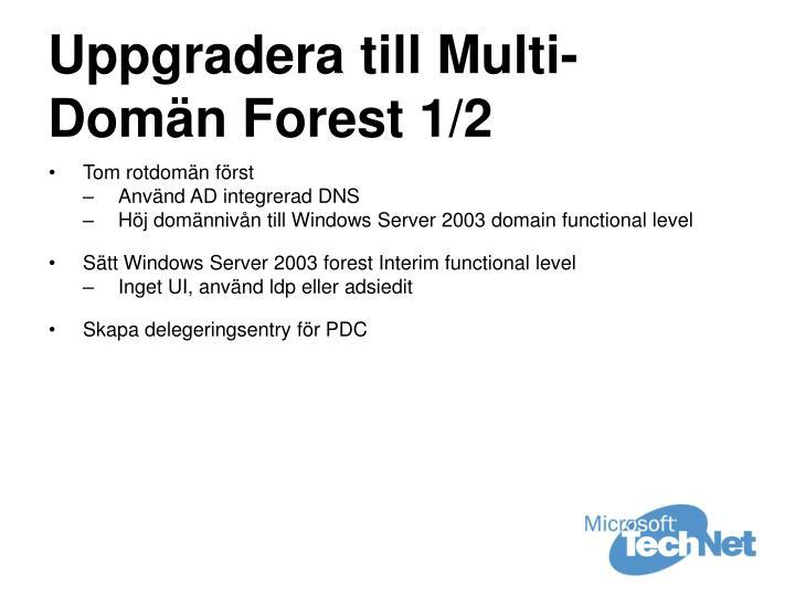 Uppgradera till Multi-Domän Forest 1/2