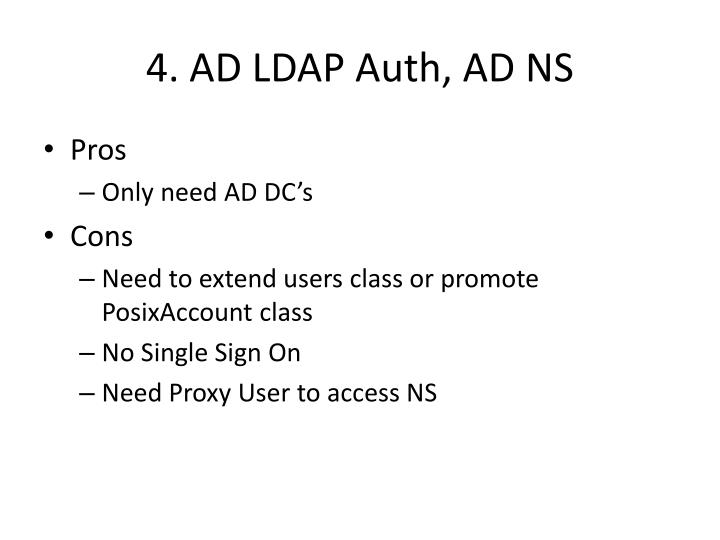 4. AD LDAP Auth, AD NS