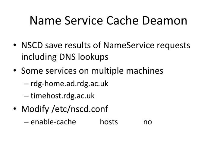 Name Service Cache