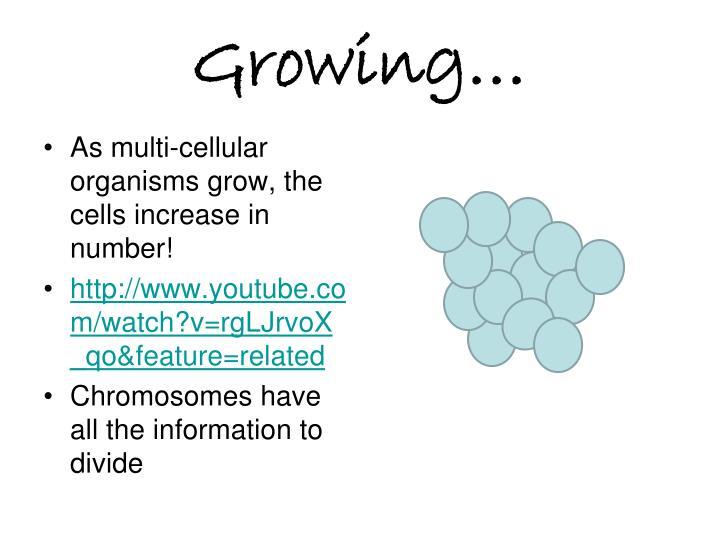 Growing…