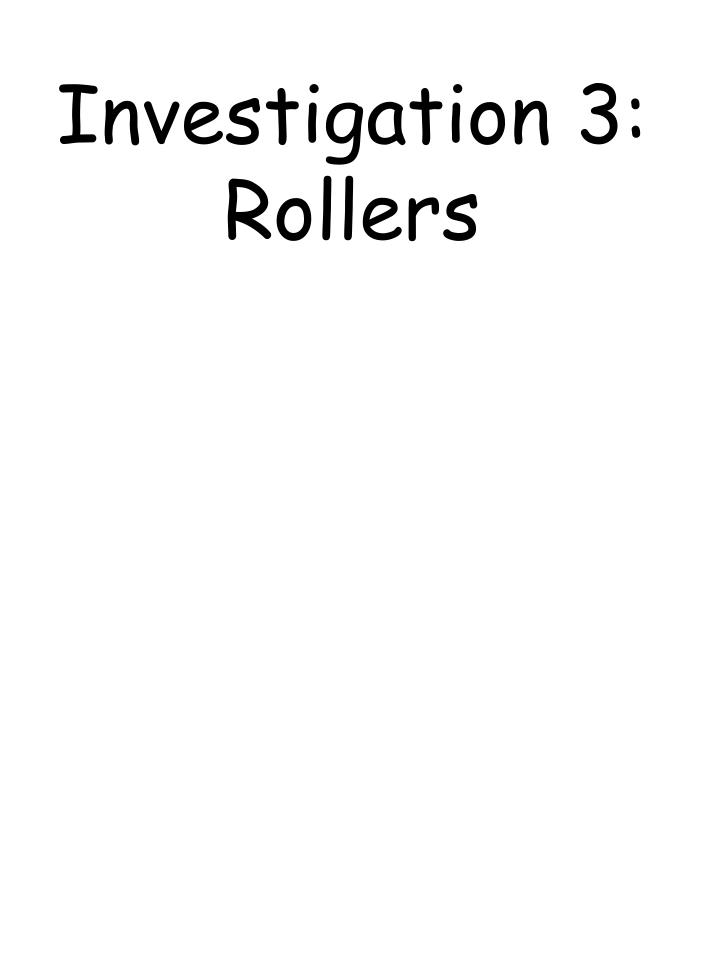 Investigation 3: Rollers