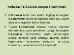 perbedaan e business dengan e commerce