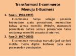 transformasi e commerce menuju e business