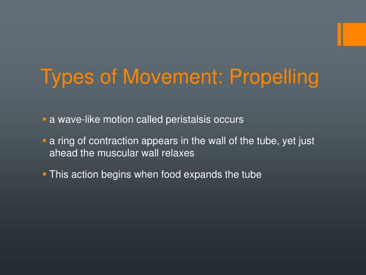 Types of Movement: Propelling