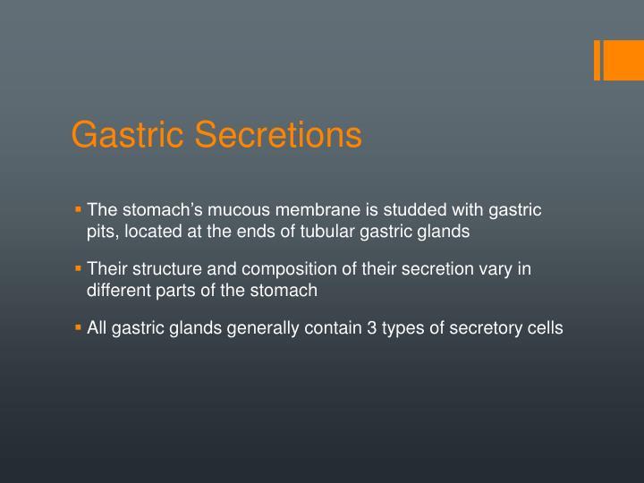 Gastric Secretions