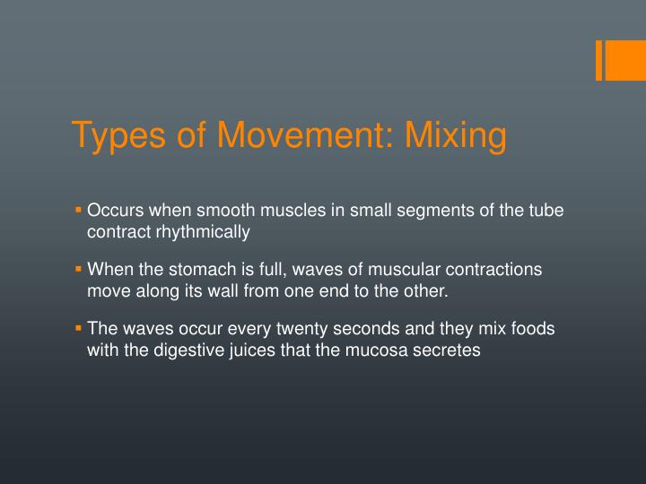 Types of Movement: Mixing