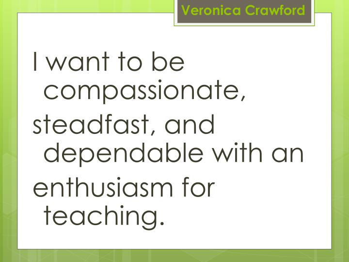 I want to be compassionate,