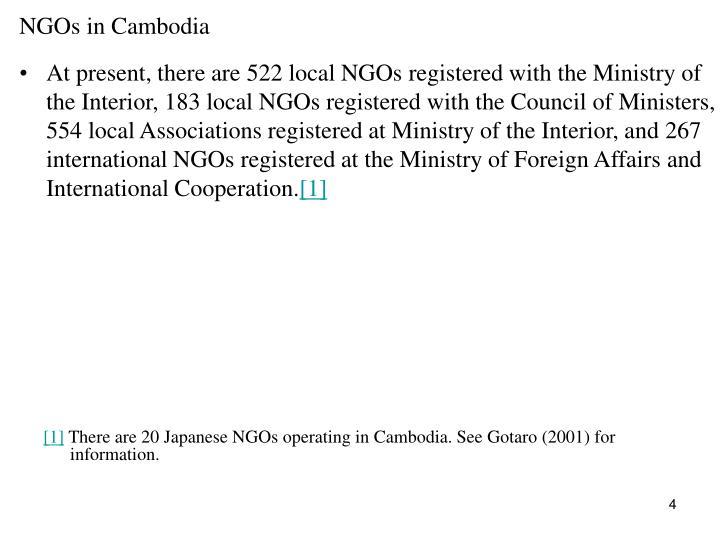 NGOs in Cambodia