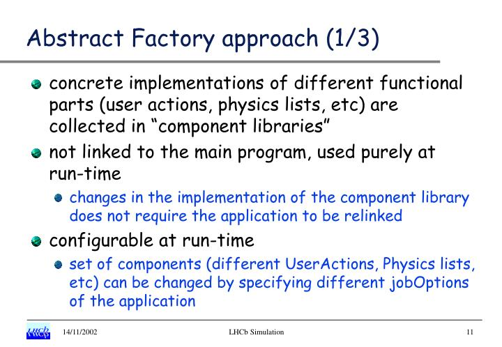 Abstract Factory approach (1/3)
