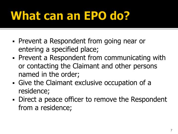 What can an EPO do?