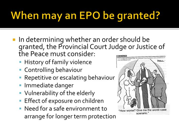 When may an EPO be granted?