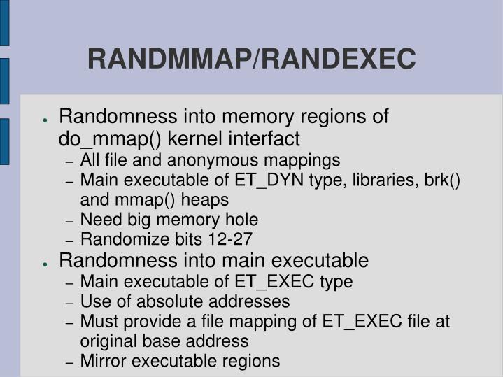RANDMMAP/RANDEXEC