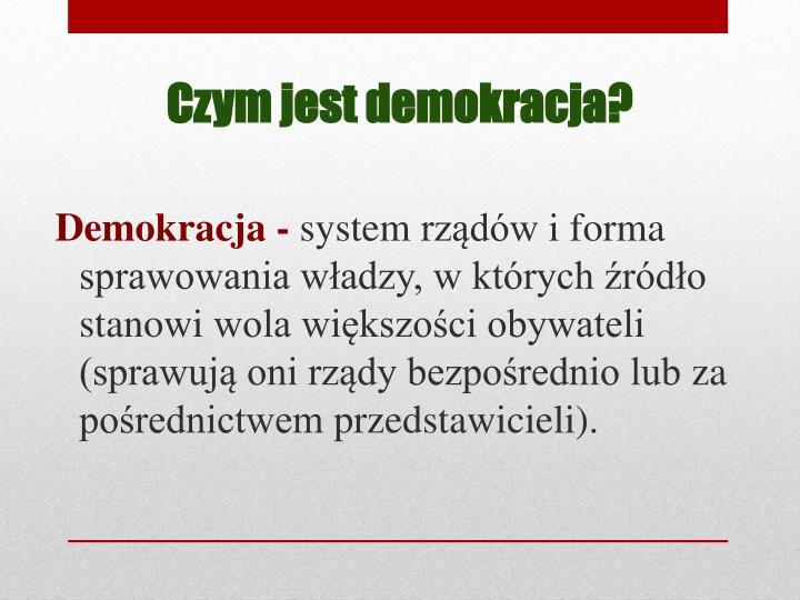 Demokracja -