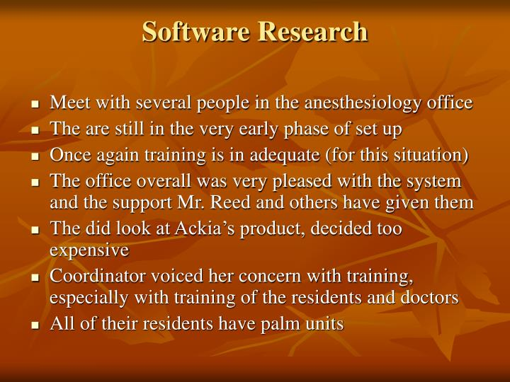 Software Research