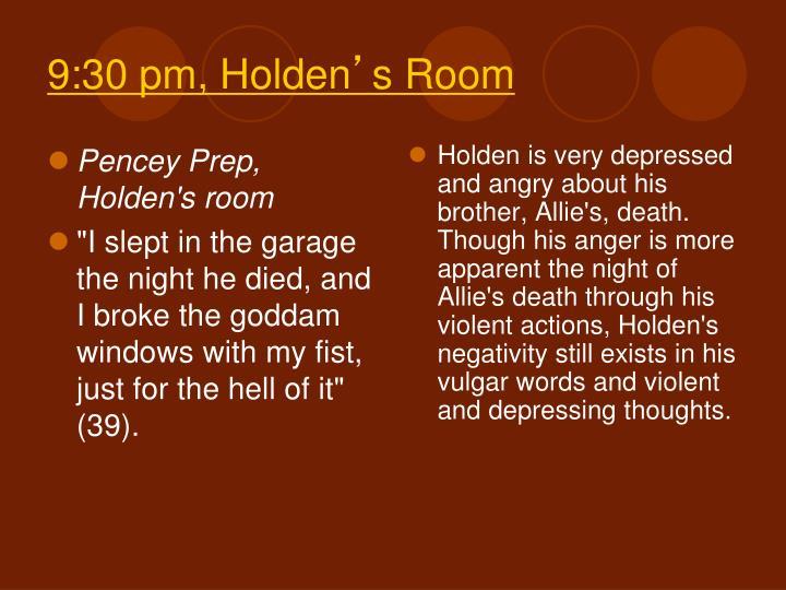 Pencey Prep, Holden's room