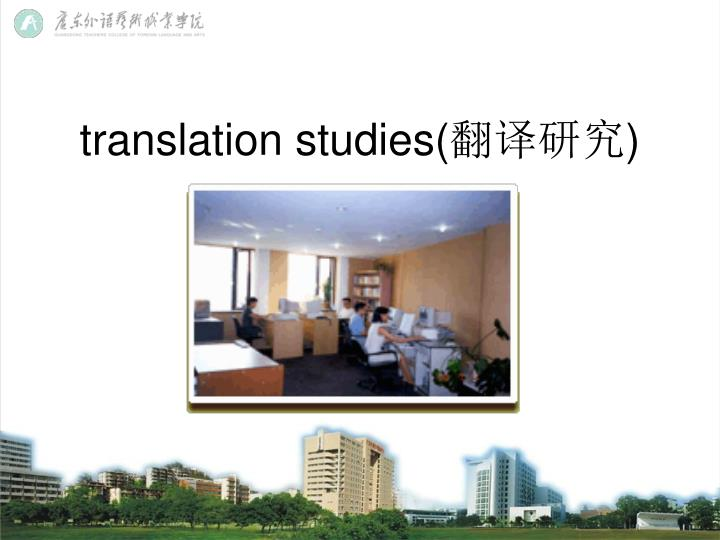 translation studies(