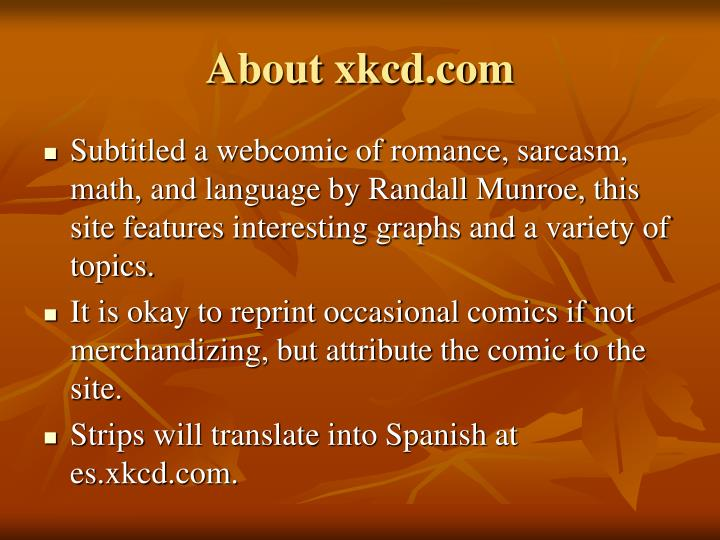 About xkcd.com